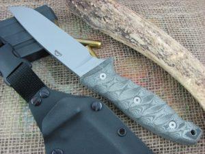 Landi Knives Snake Bull Black Grooved Micarta 154CM