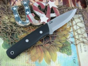 Landi Knives Scandi Bushcraft Jr Black G10 O1