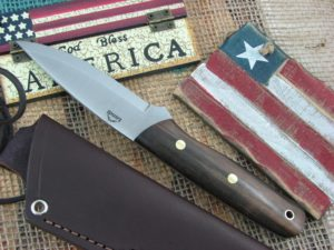 Landi Knives Scandi Bushcraft Jr Ebony Wood O1