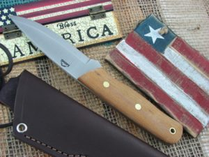 Landi Knives Scandi Bushcraft Jr Natural Canvas Micarta O1