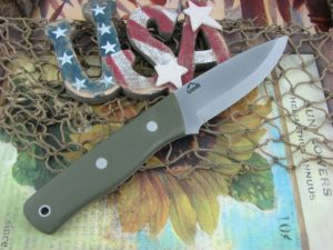 Landi Knives Scandi Bushcraft Jr OD Green G10 O1