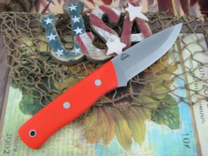 Landi Knives Scandi Bushcraft Jr Orange G10 O1