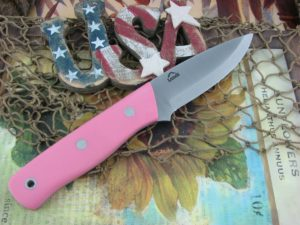 Landi Knives Scandi Bushcraft Jr Pink G10 O1