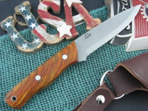 Landi Knives Scandi Bushcraft Cocobolo Wood O1
