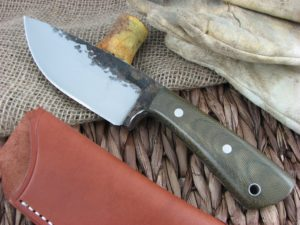 Lon Humphrey Brute De Forge Drop Point with OD Green Micarta handles and 1095 steel