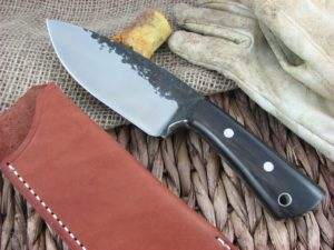 Lon Humphrey Brute De Forge Spear Point with Black Wood handles and 1095 steel
