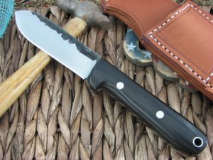 Lon Humphrey Kephart Flat Spear with African Blackwood handles and 1095 steel