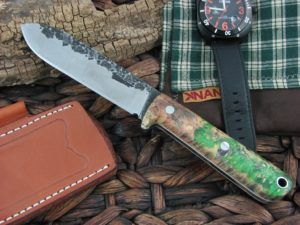 Lon Humphrey Kephart Spear with Green Burl Wood handles and CPM3V steel