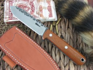 Lon Humphrey Kephart Spear with Natural Micarta with Blue Liner handles and CPM3V steel