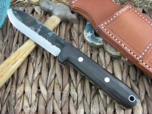 Lon Humphrey Kephart Scandi Spear with African Blackwood handles and 1095 steel
