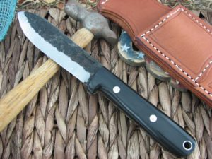 Lon Humphrey Kephart Scandi Spear with Black Micarta handles and 1095 steel