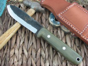 Lon Humphrey Kephart Scandi Spear with OD Micarta handles and 1095 steel
