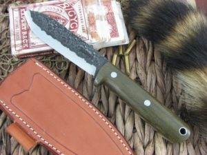 Lon Humphrey Kephart Scandi Spear with OD Green Micarta handles and CPM3V steel