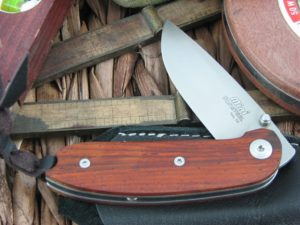 Lion Steel Mini Drop Point blade Cocobolo Wood handles D2 steel 8210CB