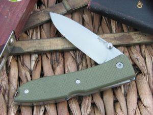 Lion Steel Opera Spear blade Green G10 handles D2 steel 8800GN