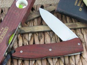 Lion Steel Big Opera Spear blade Cocobolo Wood handles D2 steel 8810CB