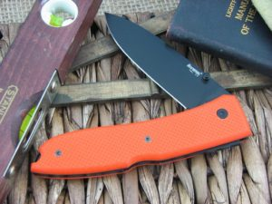 Lion Steel Big Opera Spear blade Orange G10 handles D2 steel 8810OR