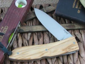 Lion Steel Big Opera Spear blade Olive Wood handles D2 steel 8810UL