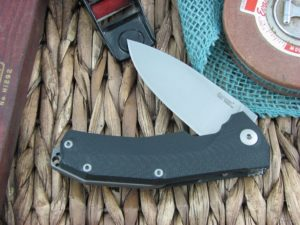 Lion Steel KUR Flipper with Black G10 handles Stonewashed Sleipner steel Linerlock KURBK