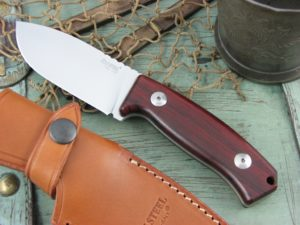 Lion Steel M2 Cocobolo Wood handles D2 steel M2CB