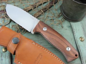 Lion Steel M3 Milled Santos Wood handles Niolox steel M3ST