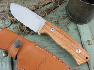 Lion Steel M3 Milled Olive Wood handles Niolox steel M3UL