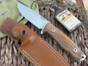 Lion Steel M5 Milled Santos Wood handles Sleipner steel M5ST