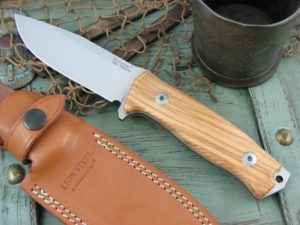 Lion Steel M5 Milled Olive Wood handles Sleipner steel M5UL