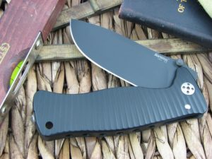 Lion Steel SR1 Drop Point blade Black Ergal Aluminum frame D2 steel SR-1ABB