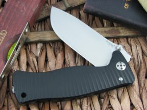 Lion Steel SR1 Drop Point blade Black Ergal Aluminum frame D2 steel SR-1ABS