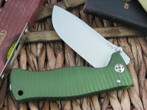 Lion Steel SR1 Drop Point blade Green Ergal Aluminum frame D2 steel SR-1AGS