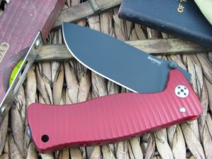 Lion Steel SR1 Drop Point blade Red Ergal Aluminum frame D2 steel SR-1ARB