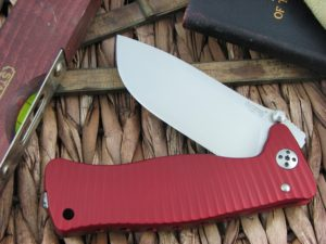 Lion Steel SR1 Drop Point blade Red Ergal Aluminum frame D2 steel SR-1ARS