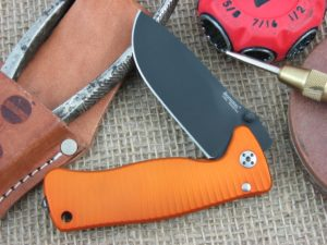 Lion Steel SR Mini SR2 Drop Point blade Orange Ergal Aluminum frame Sleipner steel SR2AOB