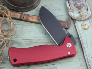 Lion Steel SR Mini SR2 Drop Point blade Red Ergal Aluminum frame Sleipner steel SR2ARB