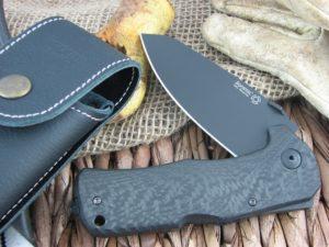 Lion Steel TM1 blade Monolithic Carbon Fiber handles Sleipner steel TM1-CB
