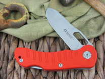Maserin Cutlery Jager 1 blade Orange G10 handles 440C steel Satin finish 131-1G10A