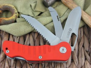 Maserin Cutlery Jager 3 blade Orange G10 handles 440C steel Satin finish 131-3G10A