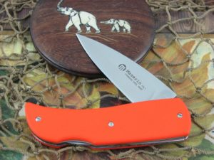 Maserin Cutlery Favri Orange G10 handles N690 steel Satin finish 379G10A
