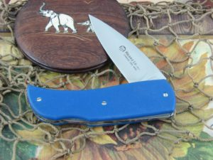 Maserin Cutlery Favri Blue G10 handles N690 steel Satin finish 379G10B