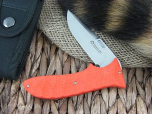 Maserin Cutlery GTO Orange G10 handles N690 steel Satin finish 384-G10A
