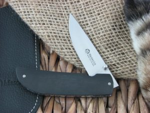 Maserin Cutlery Atti Ebony Wood handles CPM-S35VN steel Satin finish 389-EB