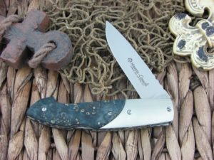 Maserin Cutlery Consoli Black Burl Wood handles CPM-S35VN steel Satin finish 401-RN