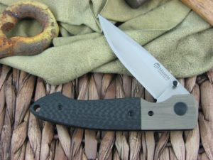 Maserin Cutlery Sport Green G10 and Carbon Fiber handles D2 steel Bead Blasted finish 46002GC