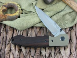 Maserin Cutlery Sport Green G10 and Cocobolo handles D2 steel Bead Blasted finish 46002GCW