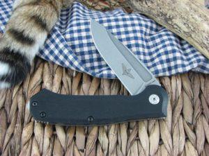 Maserin Cutlery Police Black G10 handles N690 steel Stonewashed finish 680-G10N