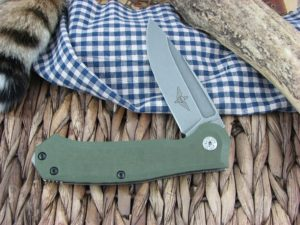 Maserin Cutlery Police OD Green G10 handles N690 steel Stonewashed finish 680-G10V