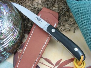 Moki Knives BANFF Long Black Linen Micarta VG10 MK1100