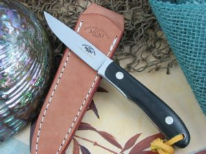 Moki Knives BANFF Medium Black Linen Micarta VG10 MK1110