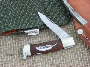 Moki Leaf Spear Ironwood with MOP and Abalone handles VG10 steel MK810IL